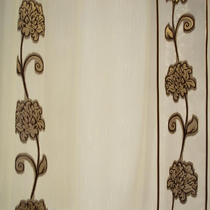 Perdea Velaria sable flori maro, 550x60 cm 2