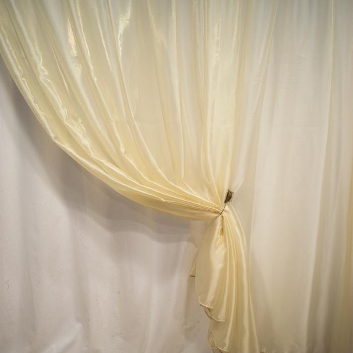 Perdea Velaria voal crem lucios, 420x245 cm 1