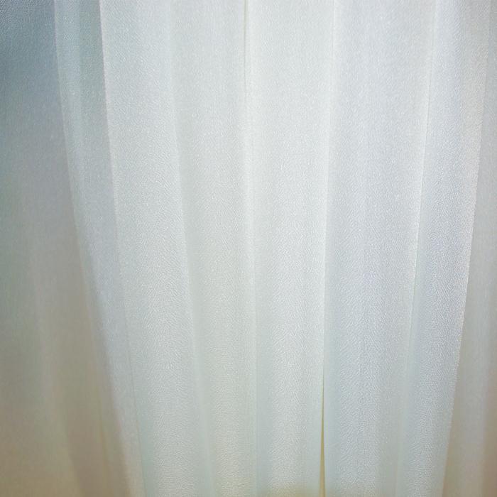Perdea Velaria voal crep ivoire cu dantela, 240X175 cm 4