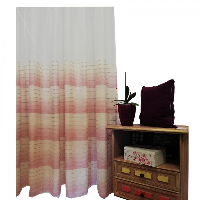 Perdea Velaria in dunga roz 320x260 cm 1