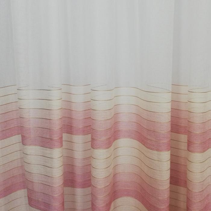 Perdea Velaria in dunga roz 320x260 cm 3