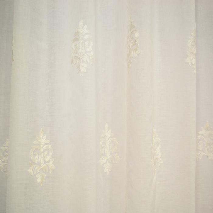 Perdea Velaria baroc alb brodat, 200x165 cm 1