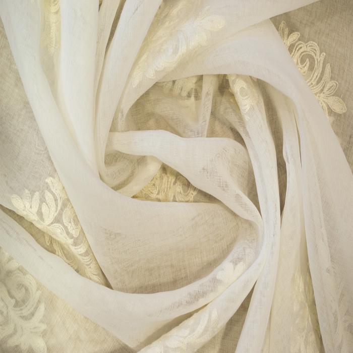 Perdea Velaria baroc alb brodat, 200x165 cm 2
