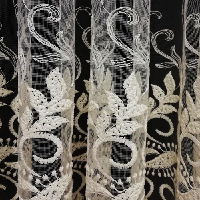 Perdea Velaria tul frunza ivory 420 x 245 2