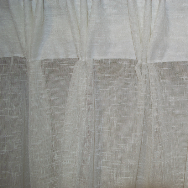 Perdea Velaria in dungi baroc ivory cu plii, 400x270 cm 1