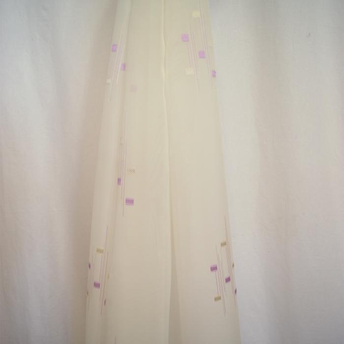Perdea Velaria voal imprimeu lila, 120x245 cm 2