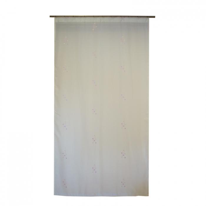 Perdea Velaria voal imprimeu lila, 120x245 cm 0
