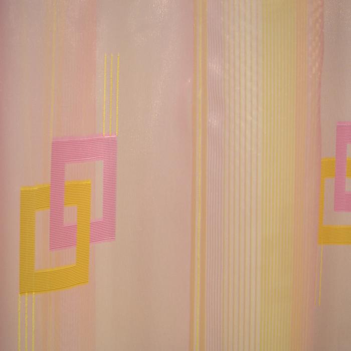 Perdea Velaria voal roz cu auriu, 300x250 cm 4