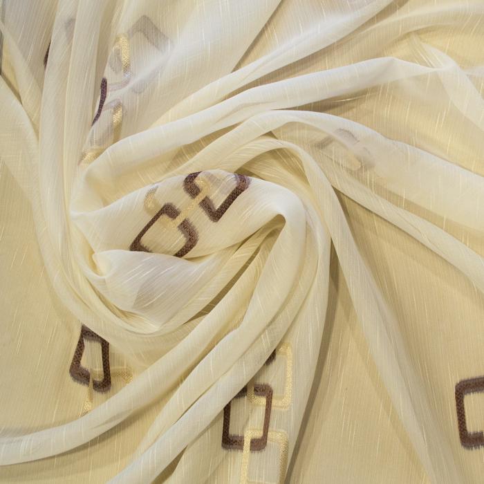 Perdea Velaria sable patrate maro, 270x250 cm 1