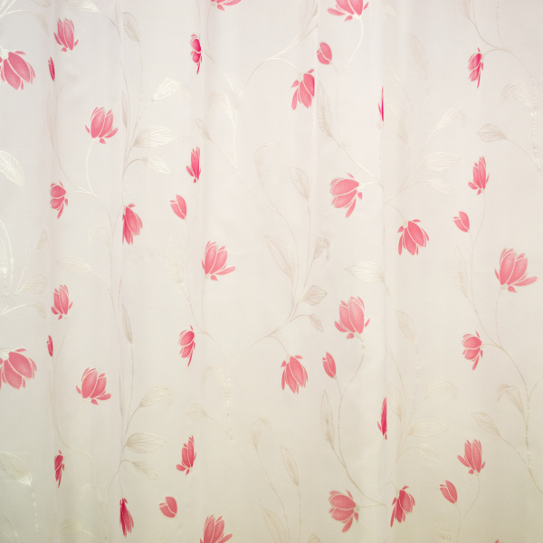 Perdea voal flori rosii, 280x155 cm 1