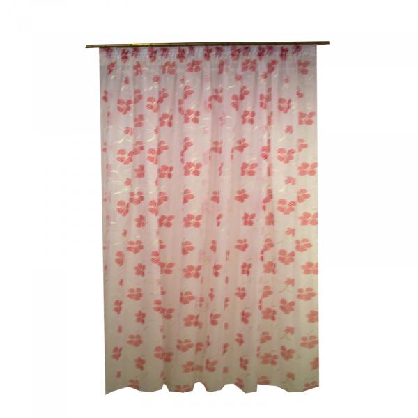Perdele Velaria  voal rosu pictat 250x245 cm [0]