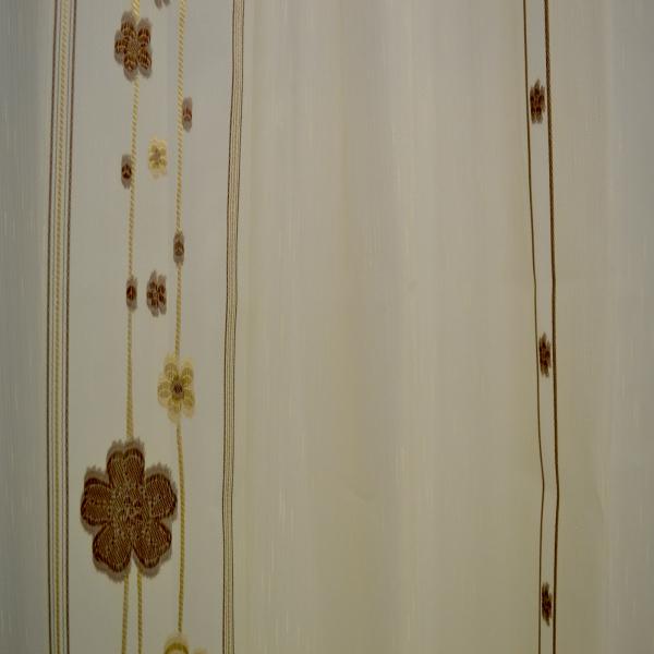 Perdele Velaria sable cu flori wenge 1