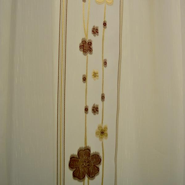Perdele Velaria sable cu flori wenge 2