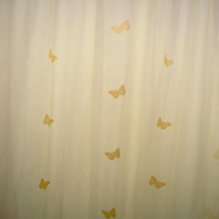 Perdea Velaria sable cu fluturi cappuccino 1