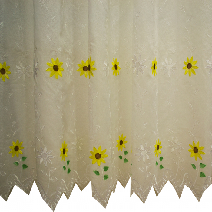 Perdele Velaria bucatarie floarea soarelui crem 1