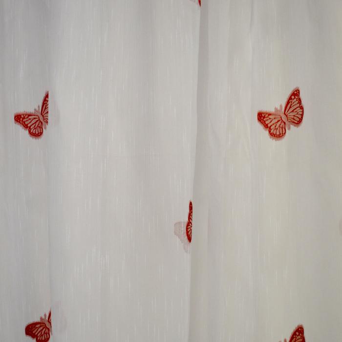 Perdele Velaria sable cu fluturi rosii 2