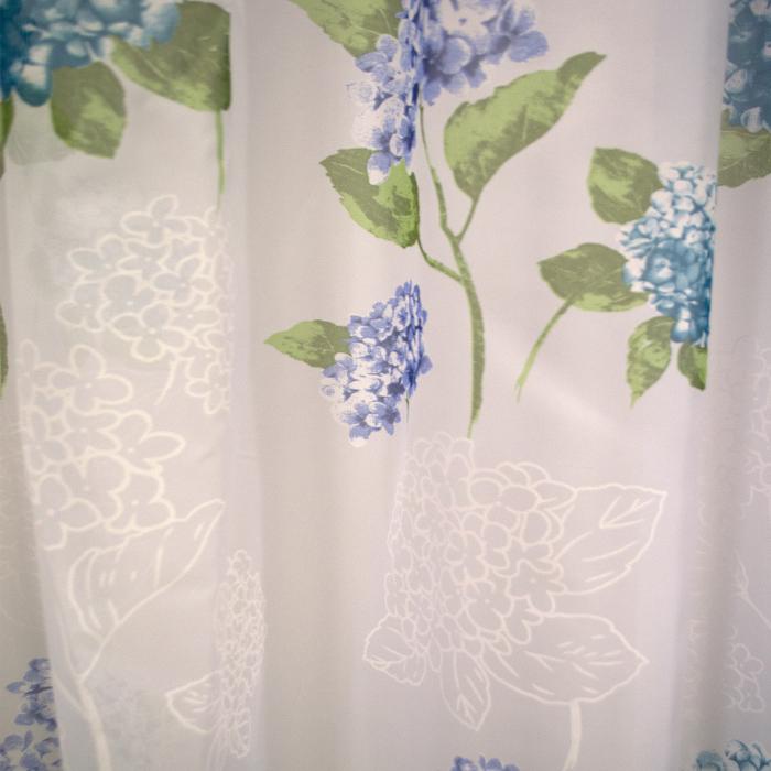 Perdele velaria voal flori turqoise 410x245 cm 1