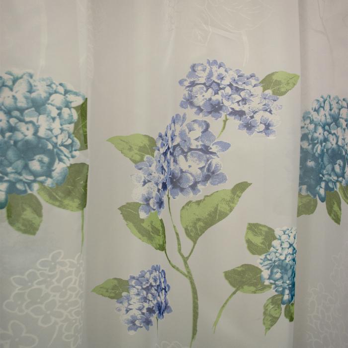 Perdele velaria voal flori turqoise 410x245 cm 2