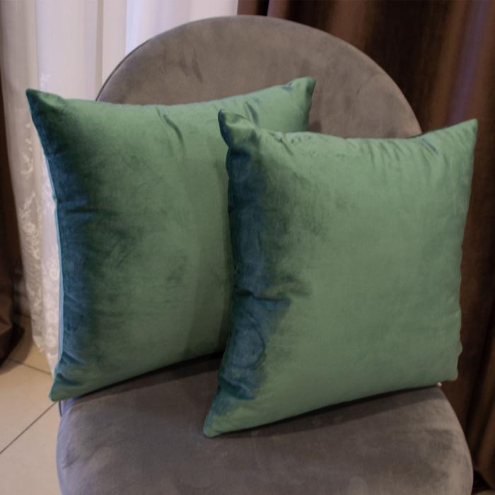 Perna Velaria, catifea verde, 40x40 cm [0]
