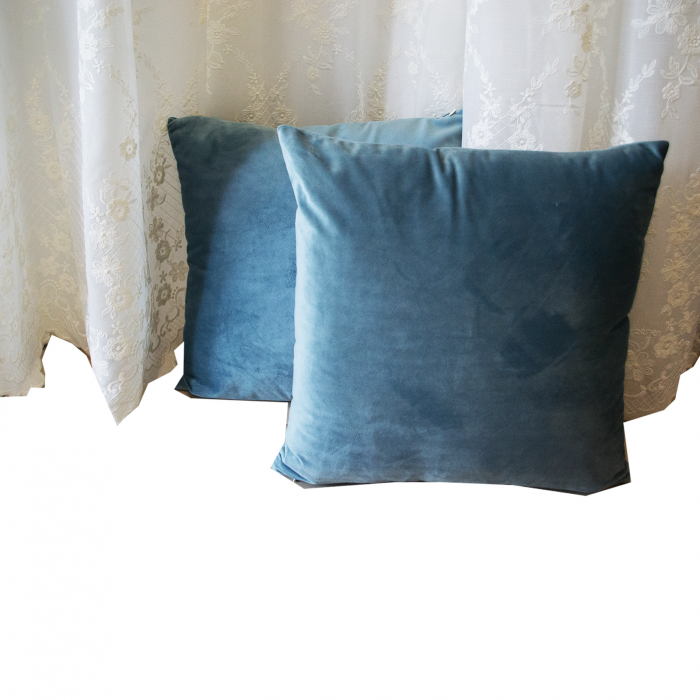 Perna Velaria Catifea Albastru Marin 40/40 cm 1