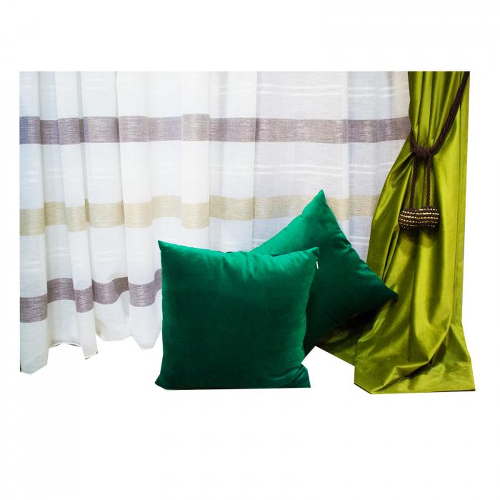 Perna Velaria Catifea Verde Smarald 40/40 cm 4