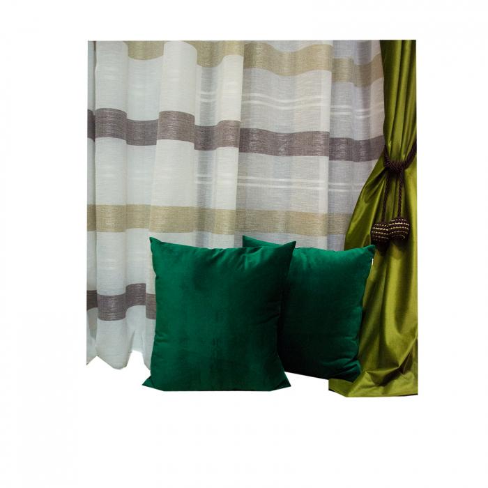 Perna Velaria Catifea Verde Smarald 40/40 cm 2