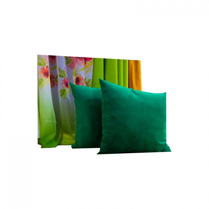 Perna Velaria Catifea Verde Smarald 40/40 cm 0