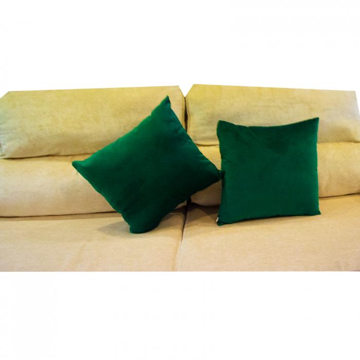 Perna Velaria Catifea Verde Smarald 40/40 cm 5