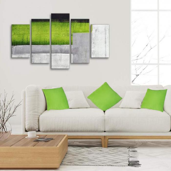 Set 3 perne Velaria verde deschis, 40/40 cm 1