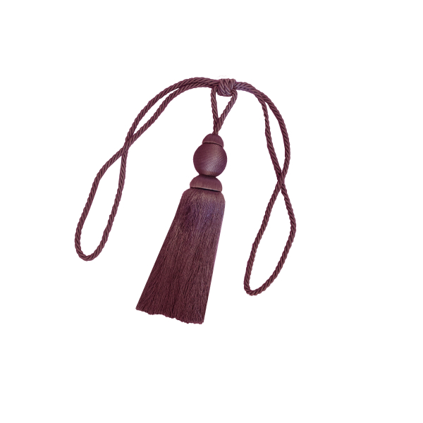 Set 2 canafi textili Larissa, 77 cm - grena 9