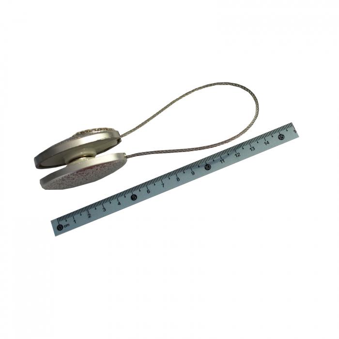 Set 2 magneti decorativi cu sufa metalica si cristale 2