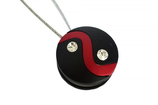 Set 2 magneti decorativi cu sufa metalica 13 cm, rosu/negru 1