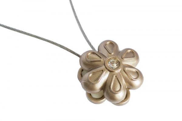 Set 2 magneti decorativi Velaria, floare cu sufa metalica 25 cm 3