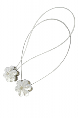 Set 2 magneti decorativi Velaria, floare cu sufa metalica 25 cm [1]