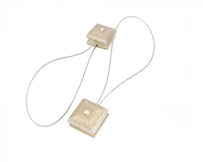 Set 2 magneti decorativi Velaria, patrati cu sufa metalica 25 cm 1