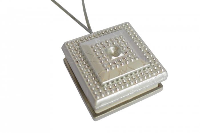 Set 2 magneti decorativi Velaria, patrati cu sufa metalica 25 cm [0]