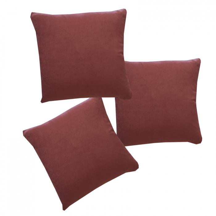 Set 3 perne Velaria roz inchis, 40/40 cm 0