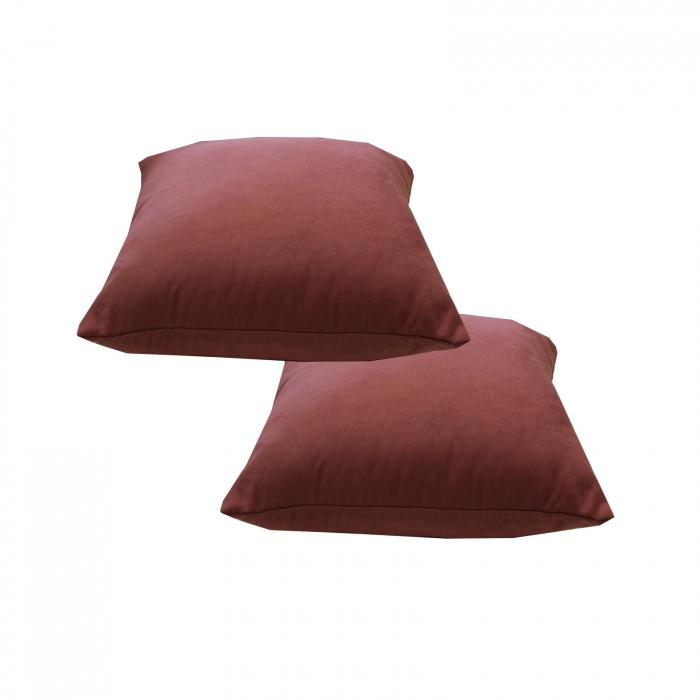Set 2 perne Velaria roz inchis, 40/40 cm 2