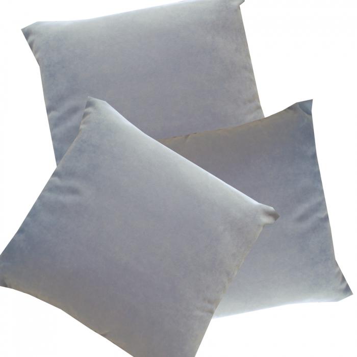 Set 3 perne Velaria bleo inchis, 40/40 cm 0