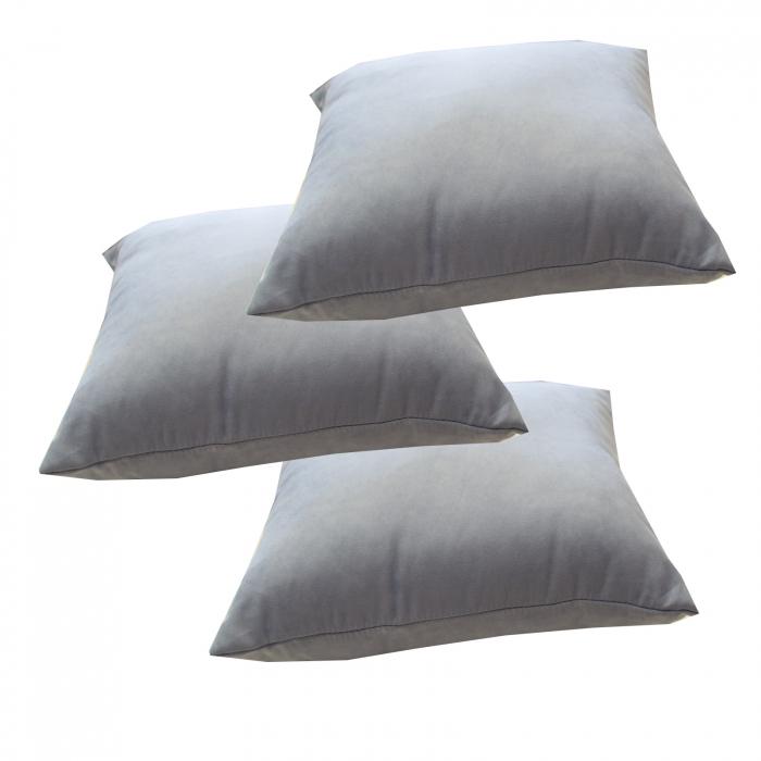 Set 3 perne Velaria bleo inchis, 40/40 cm 2