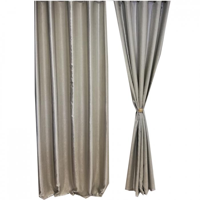 Set draperie Velaria blackout dungi gri 140X260X2 4