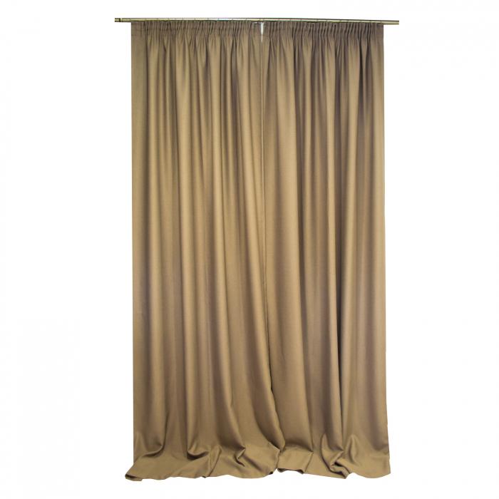 Set draperie Velaria blackout nuca, 2x150x290 cm, cu rejansa 1