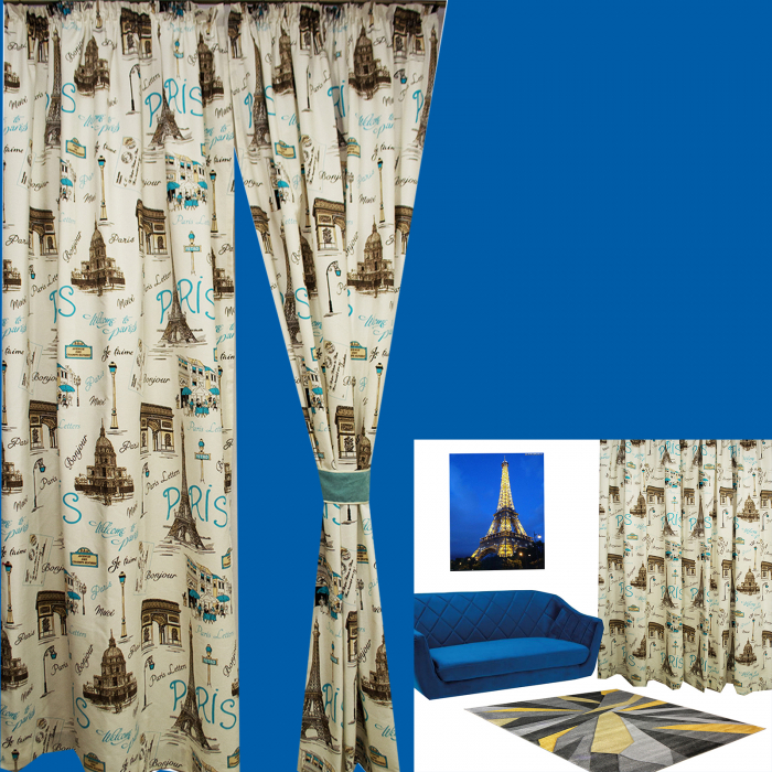 Set Draperie Velaria In Paris Blue 3