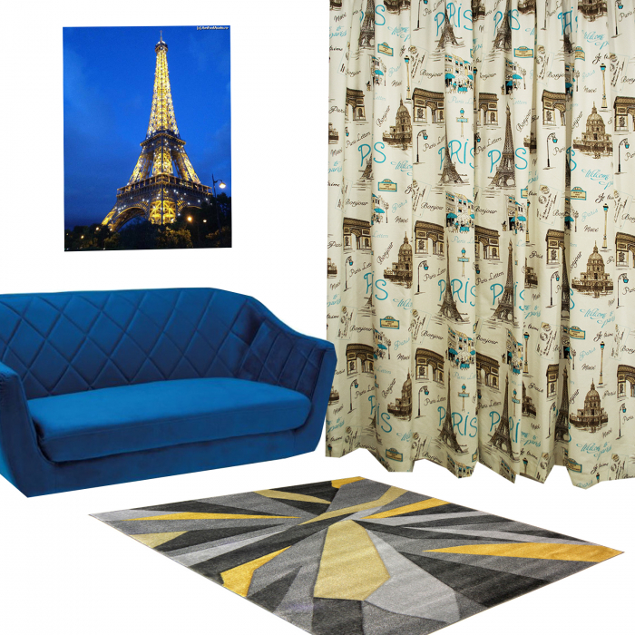 Set Draperie Velaria In Paris Blue 1