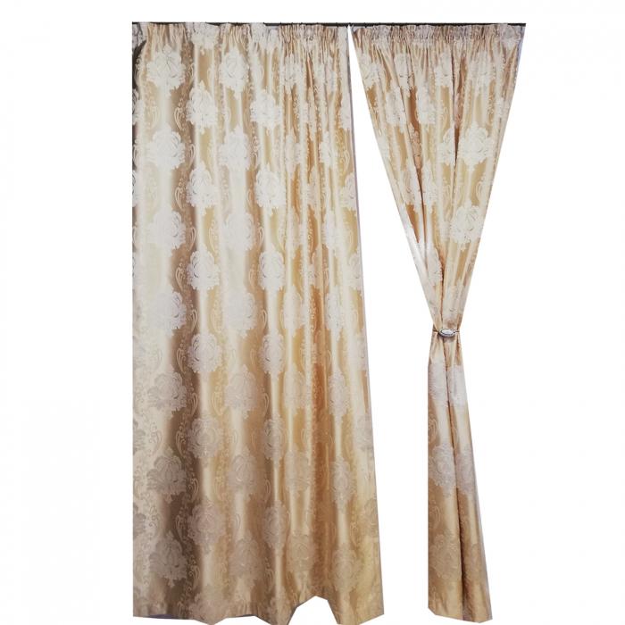 Set Draperie Velaria Tafta Baroc Clasic Ivory 140X260X2 0