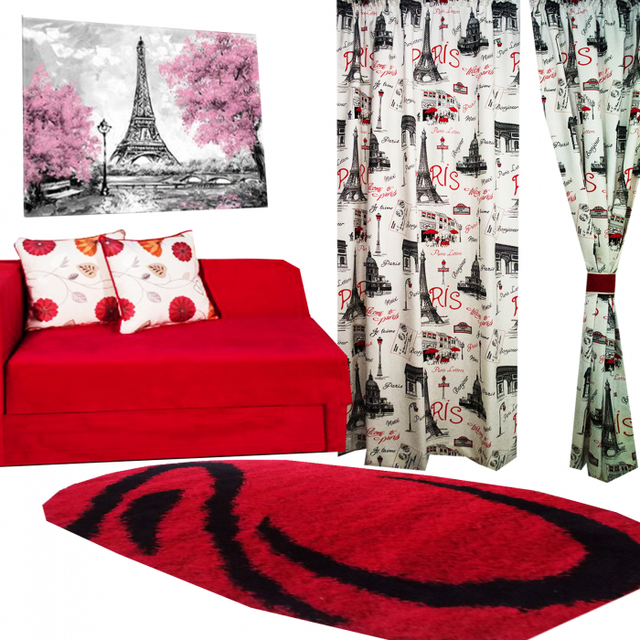 Set Draperie Velaria In Paris Rosu 1