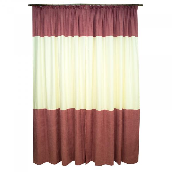 Set draperii roz cu parte unt, 2x150x260 cm 1