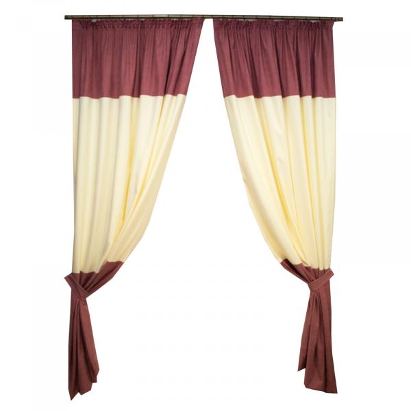 Set draperii roz cu parte unt, 2x150x260 cm 0