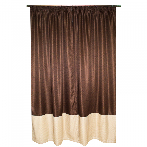 Set draperii brownie, 2x130x255 cm 2