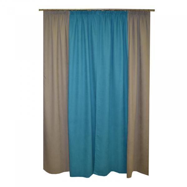 Set draperii Velaria turcoaz-gri, 2x130x260 cm 2
